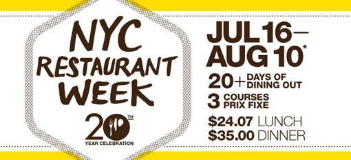 2012 summer restaurant week New York