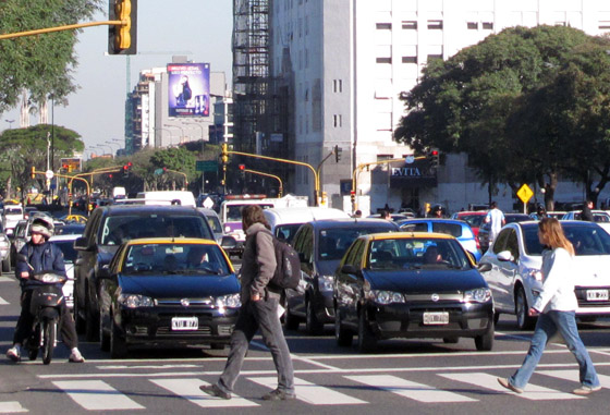 Taxi Buenos Aires golpe