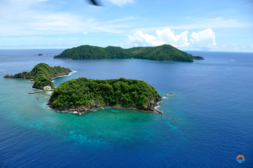 Aerial View Goat Island and Little Tobago