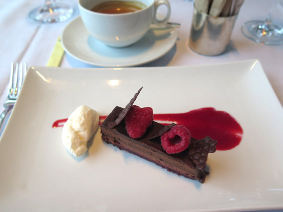 Chocolate Raspberry Torte - Restaurante Asiate Mandarin Oriental