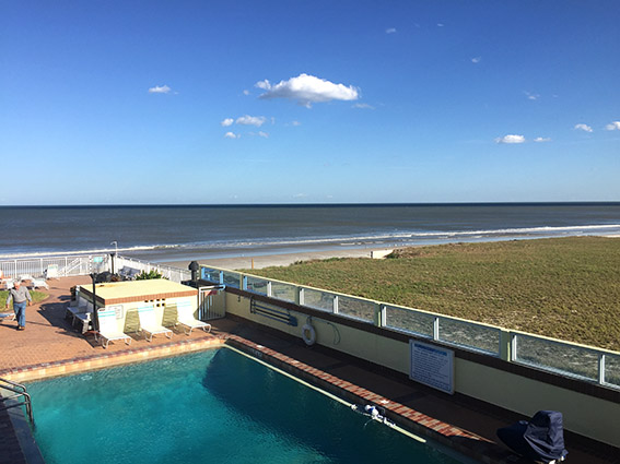 Sea Shells Beach Club Daytona Beach vista da suite