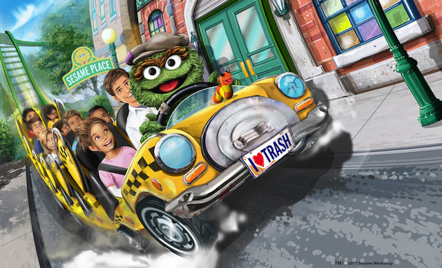 Oscar Wacky Taxi at Sesame Place