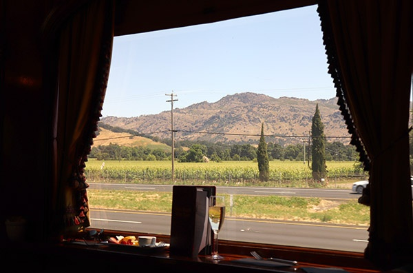Vista do Napa Valley do Wine Train